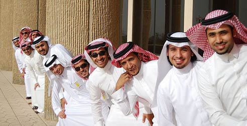 Arabs in Dishdasha